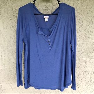 Mossimo Wide Neck Dolman Tunic - Blue